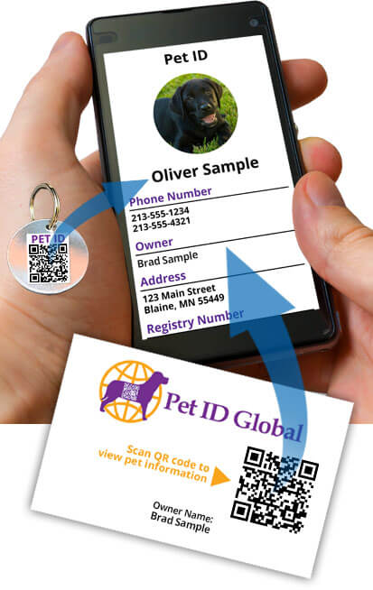 test your pet id stickers